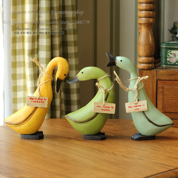 European style A set of 3 wooden ducks,super cute duck three brothers Wedding/birthday gifts,Creative Home Furnishing ornaments
