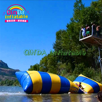 Summer Lake Waterpark Equipment Jumping Water Blob Launch Inflatable Water Catapult Blob For Sale