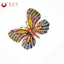 8 видов цветов Стразы Бабочка Брошь pin корсаж брошка женское