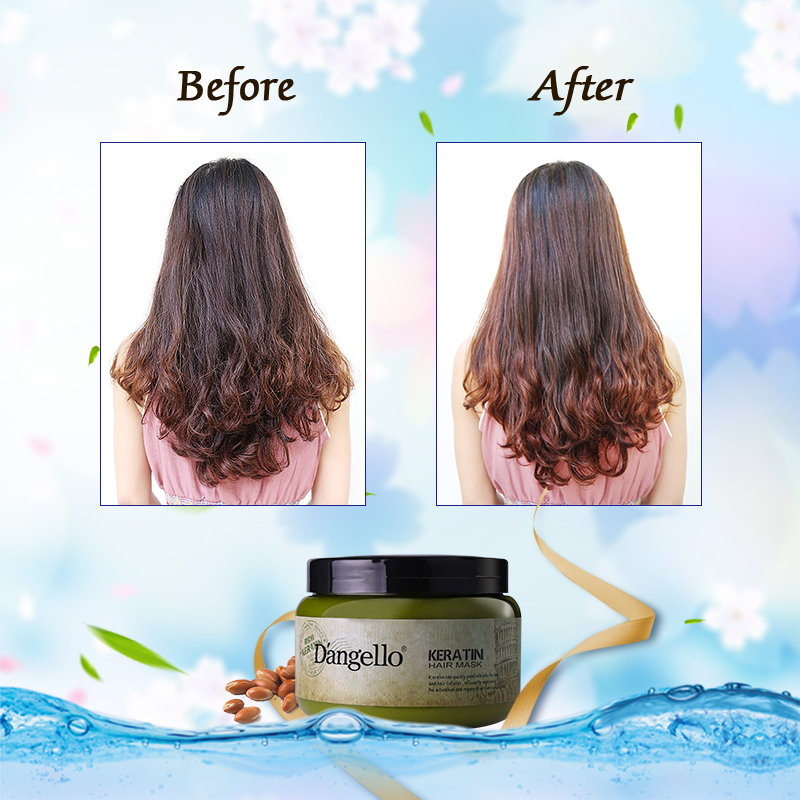 Steam Hair Mask Keratin 500ml Argan Oil Treatment Supple Strength Dry Split Ends Hair care Product Straightening Deep Repair in Hair Scalp Treatments from Beauty Health