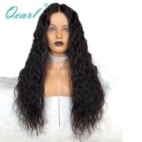 Удлиненные средняя часть 13x6 Синтетические волосы на кружеве кудрявый парик индийский Волосы remy человеческих волос парики предварительно с