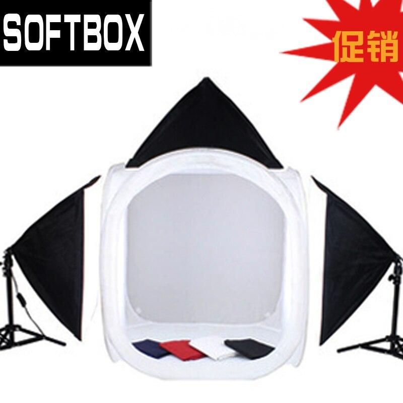 softbox kit 80cm foto světlo box světlo stan světlo kit fotografie světlo set 4 pozadí min studio stan CD50