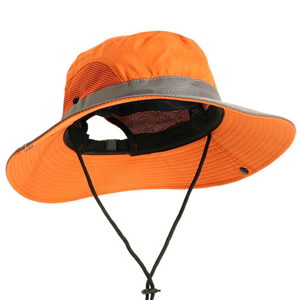 Cap Mesh Men Women Fishing Travel Camping Climbing Bucket Hat Adjustable Breathable Outdoor Activities Casual Polyester Summer