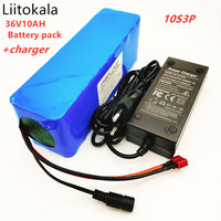 LiitoKala 36V 10Ah 500W high power and capacity 42 18650 lithium battery pack ebike electric car Cycling engine scooter with BMS