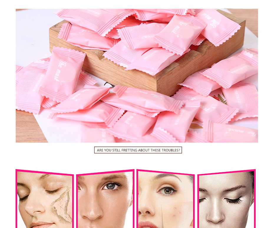 20pc Compressed Face Mask Paper Disposable Facial Masks Papers Natural Skin Care Wrapped Masks DIY Women Makeup Face Beauty Tool 1
