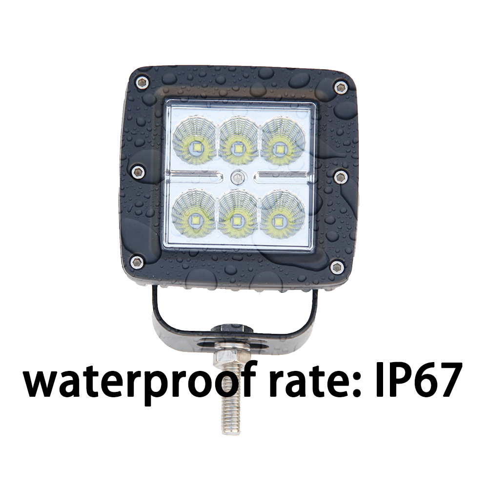 ФОТО CO LIGHT 12/24v Led Work Light Bar Square Shape Black Lights 18 30 w 6500k for Boat Car Tractor Truck  Free Shipping to USA