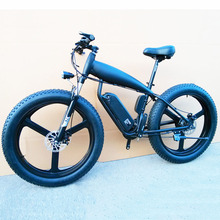 Custom 26inch Fat tire ebike 500W-1500W 48V Li-ion snow electric mountain bicycle Hydraulic disc brake Air pressure front fork