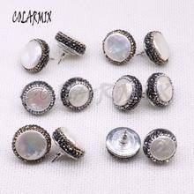 Boucles doreilles en perles naturelles pour femmes, 18mm, 10 paires, perles de forme gratuite, bijoux artisanaux, bijou pour femmes, collection 3941