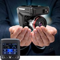 2 in1 Car Radar Detector DVR GPS Tracker 2.3 mini Dash cam HD 720P Fixed and Flow Speed Detection Video Recorder