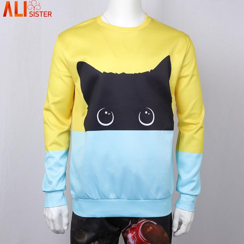 Alisister Cute Cat Hoodies 3d Sweatshirt Women Men Kawaii Black Cat Hoody Animal Autumn Winter Pullovers Funny Dropship #2