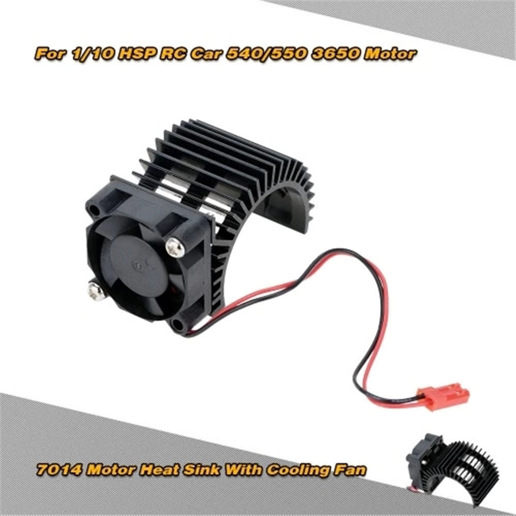 7014 Motor Heat Sink With Cooling Fan for 1/10 HSP RC Car 540/550 3650 Motor Thi7014 Motor Heat Sink With Cooling Fan for 1/10 HSP RC Car 540/550 3650 Motor Thi