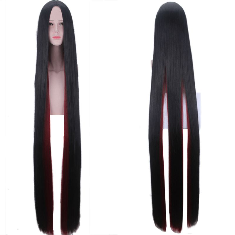 Land Of The Lustrous Costume Cosplay Wigs For Women Houseki No Kuni Bort 150cm Black Wine Red Straight Synthetic Hair Wig