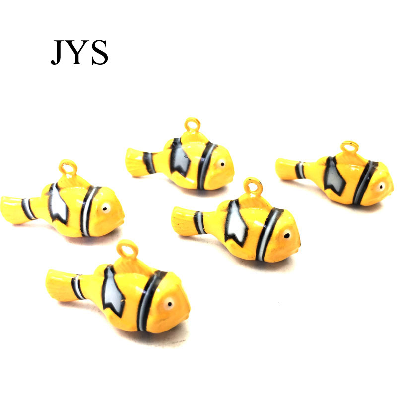 HOT SALE 30MM 10PCS/LOT JINGLE BELLS CHARMS FISH JINGLE BELLS CHAMRS FOR JEWELRY FINDING ...