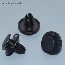 worldgolden 100pcs auto fasteners Splash Shield Fender Front Bumper Retainer for NISSAN#01553-05933(0155305933)