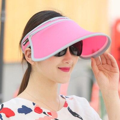 Sun hat Sun hat adjustable cap Both men and women with Fan bingbing in same  Pure color wide brim Empty hat Joker leisure hatJN01 b2207041d38