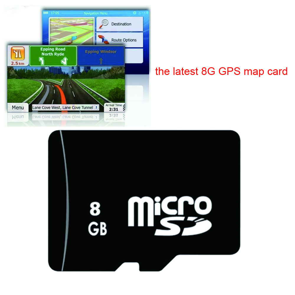 Universal 8G GPS Maps Navigation Card Micro Sd TF The Latest Map For WinCE Car DVD Russia Spain France Germany Italy UK Europe
