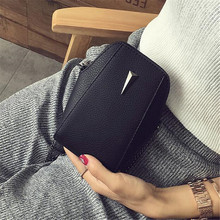 2017 New  Design Women PU Leather Crossbody Messenger bag Small Sling Shoulder Bags Fold Closure Handbag Purses