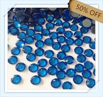 Haute qualité taille ss10 2.9mm couleur saphir avec 1440 pièces chaque paquet; pierre de diamant pour vêtement, sacs, chaussures livraison gratuite