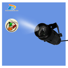 Low Price Popular Outdoor 20W LED Gobo Projector 1800 Lumens Company Logo Coffee Shop Signs LED Projector with 1 Full Color Gobo