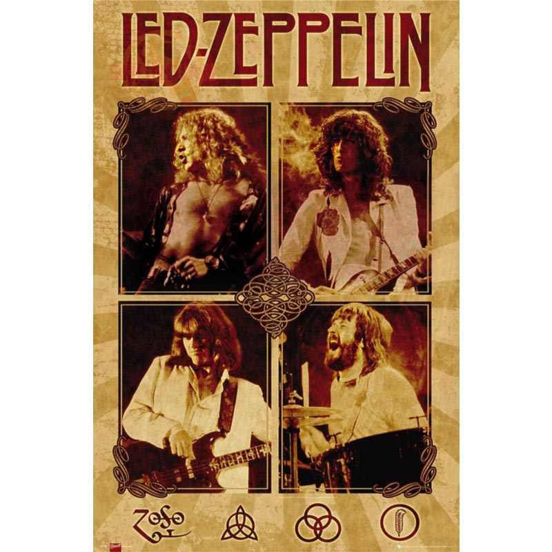 Best Nice Custom Led Zeppelin Rock Poster Good Quality Wall Poster Home  decoration Silk Poster For Bedroom cd%37