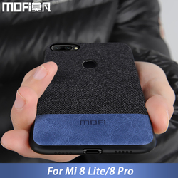 for Xiaomi mi 8 lite case cover mi 8 Youth cover silicone fabric shockproof mi 8 pro case coque MOFi for xiaomi mi 8 lite case