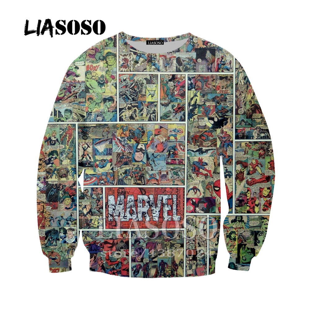 LIASOSO Newest Classic Anime Deadpool Sweatshirt 3D Printing Casual Long Sleeve Hoodie Hooded Pocket Pullover For Men Women Y258