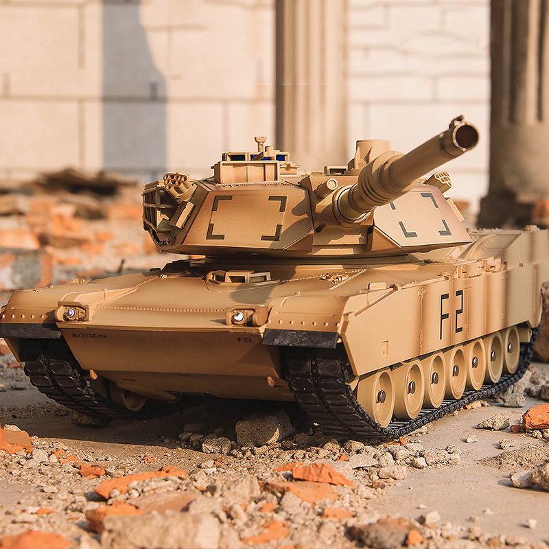 RC Tank Infrared M1A2 Remote Control Tank 1/20 9CH 27Mhz Electrically Driven Toys RC Car Electronic games Military Model For Boy