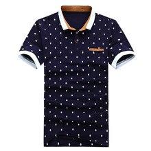 3ed8ad7aadfc9 جديد العلامة التجارية قميص بولو الرجال القطن أزياء الجمجمة النقاط طباعة  Camisa بولو الصيف قصيرة الأكمام