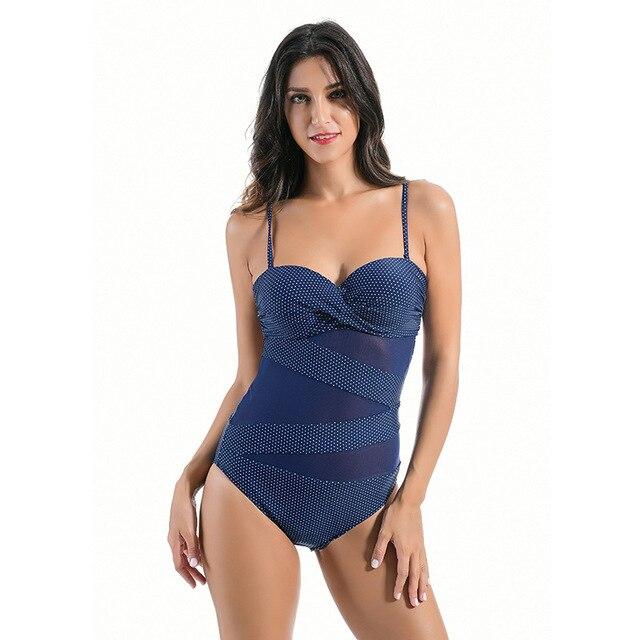 e0fd593fbac713 Eendelig Badpak Sexy Zien Door Badmode Vrouwen Push Up Vrouwelijke Bodysuit Zwemmen  Badpak Beachwear Monokini XX