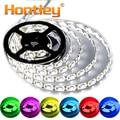Hontiey tira de LED SMD5050 o 2835 DC12V 60 Leds/m 5 m/rollo blanco azul verde amarillo rojo RGB impermeable bricolaje decoración flexible lámpara