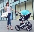 Коляски могут сидеть лежать сложенный шок Ultraportability лето bb ребенок ребенок дети высокая пейзаж strolle r бесплатная доставка