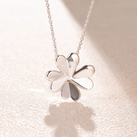 2019 Spring Lucky Four Leaf Clover Pendants Necklace for women 925 sterling silver link chain pendant necklaces fine jewelry