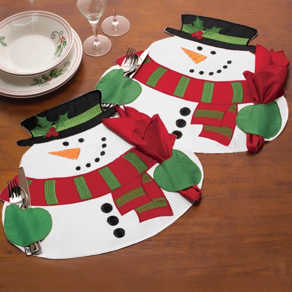 Online get cheap snowman table runner - Manteles para navidad ...