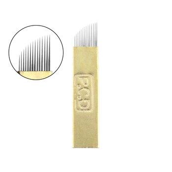 5 Pcs/lot 12/14/19 Pins Bevel U Tattoo Eyebrow Needles Microblading Permanent Makeup Manual Blades Tools NEW