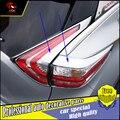 Para Nissan Murano 2015 2016 Taillight Lâmpada Shades Quadros 4 PÇS/SET Traseira Tampa Da Lâmpada Guarnição ABS Plástico Cromado Acessórios Externos