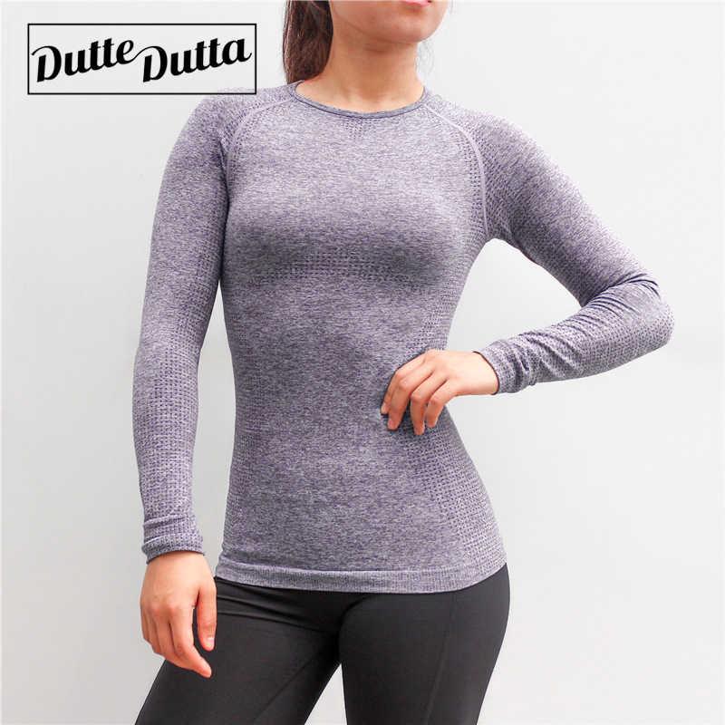 Damska odzież sportowa dla kobiet Fitness koszulka bez szwu z długim rękawem siłownia kobieta sportowa koszula top do jogi damskie, treningowe topy T-shirt
