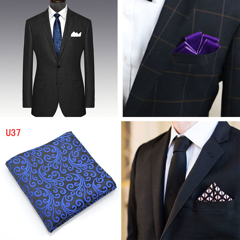 10 Color Wedding Business Men's Suit Shirt Pocket Towel Solid Color Party Polyester Handkerchief Men's Pocket Square 25 * 25 CM