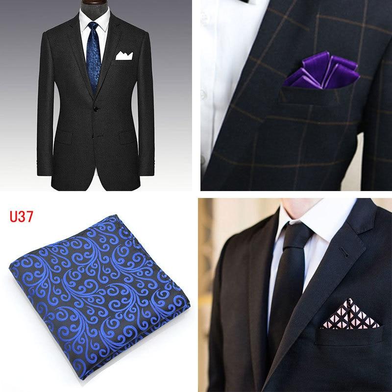 10 Color Wedding Business Men's Suit Shirt Pocket Towel Solid Color Party Polyester Handkerchief Men's Pocket Square 25 * 25 CM