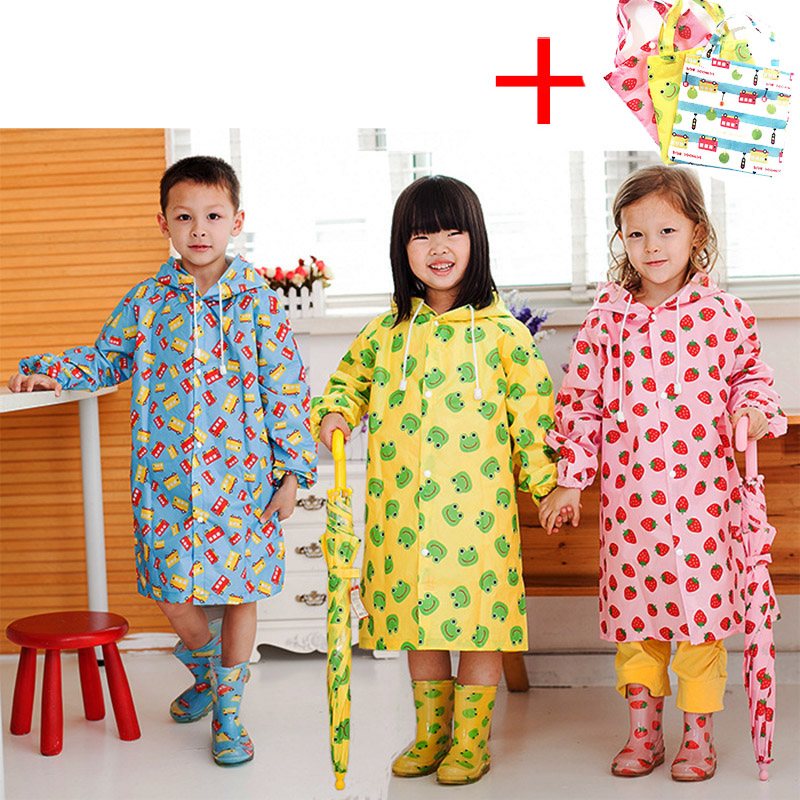 Children Raincoat Kids Cute Capa De Chuva Infantil Waterproof Japan Child Rain coat Cover Poncho Rainwear Hooded Impermeable