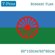 Rom Gypsy Flag Of The Romani People 3X5FT 90x150cm 60x90cm огромный российский флаг 3x5ft 90x150cm из россии