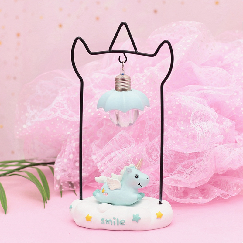 Cartoon Unicorn Resin LED Night Light Girls Room Decoration Lamp Bedside Lamp For Baby Kids Christmas New Year Birthday Gift (9)