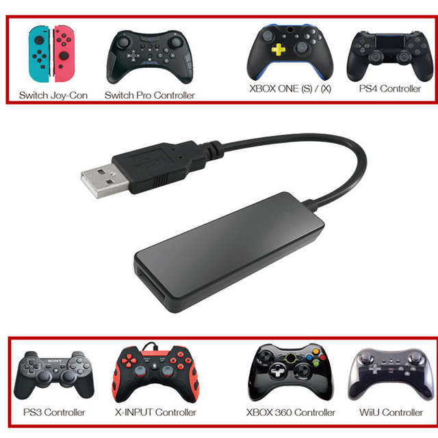 Bluetooth Usb Wired Converter Adapter For Ps4 Ps3 Xbox One 360