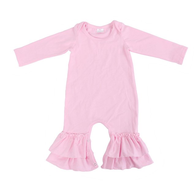 e10497d70c0 Kaiya Angel Baby Girl Winter Clothing Light Pink Baby Romper Long Sleeve  Fall Christmas Baby Clothes Wholesale Rompers 0-24M