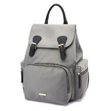 купить Solid Fashion Mummy Maternity Nappy Bag Large Capacity Baby Bag Travel Backpack Hasp Design Nursing Bag for Baby Care Z771 по цене 2746.84 рублей