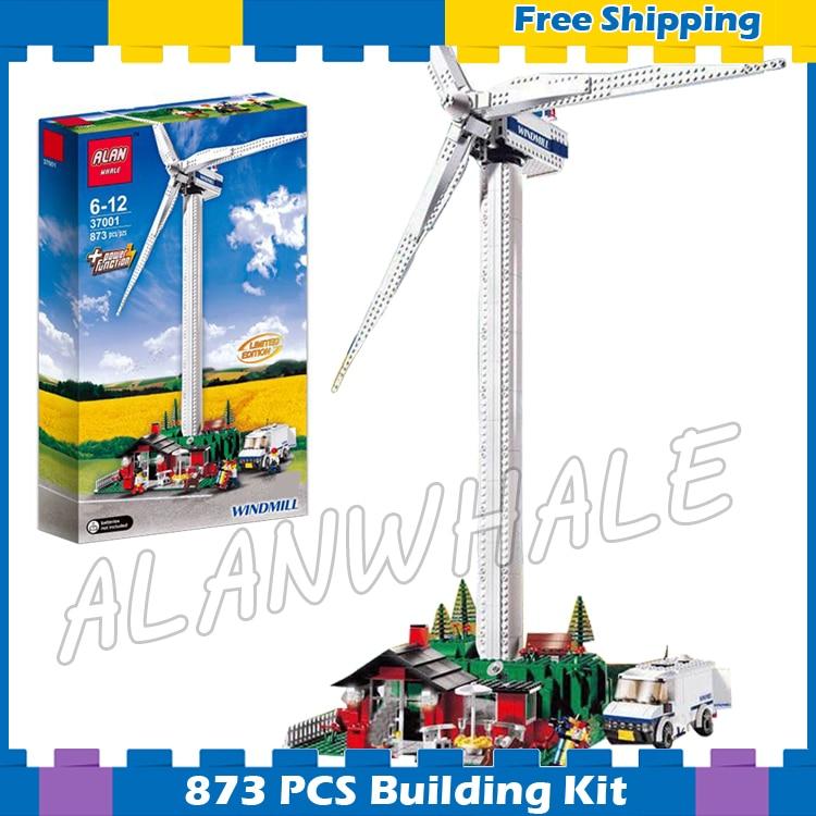 873pcs Vestas Wind Turbine Systems Electric Motorized Farm Windmill 37001 Model Building Blocks Gifts sets Compatible ...