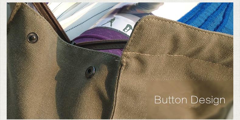 Sac à main beige, kaki, pour tapis de yoga en coton écologique, housse étui, détails boutons et ip
