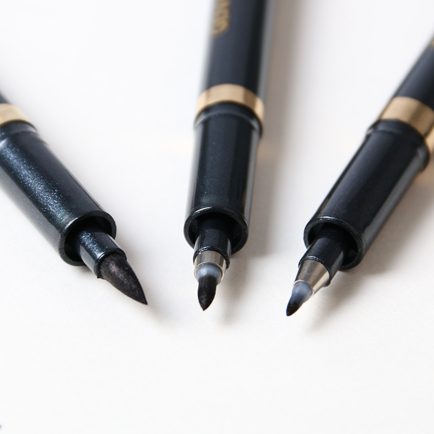 3PCS/lot Calligraphy Soft Brush Neutral Pen Multi Function Pen Office Stationery Supplies Size S M L
