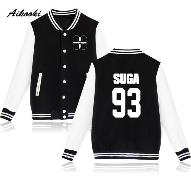 0aa65ef924e32 Aikooki BTS The Wings Tour Baseball Jacket Sweatshirt Women Men Korean  Bangtan Popular Hoodies Pullover Casual Kpop Jacket Coat