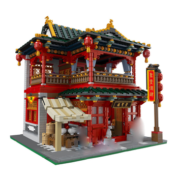 01002 3267Pcs MOC Creative Series The Beautiful Tavern Sets Building Blocks Educational Toys for Kids gifts Compatible With Toys