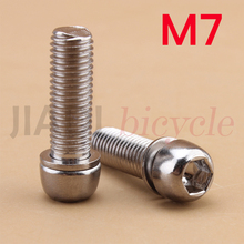 4Pcs MTB Bicycle Bike Stem Screws Cycling Fixed Gear Road M7 Steel Riser Bolt Foldable Accessories